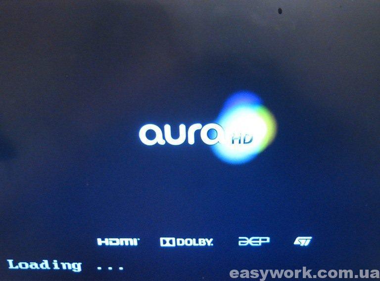 Загрузка приставки AuraHD Plus