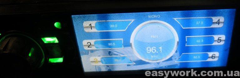 Полосы на экране магнитолы CYCLON MP-4010