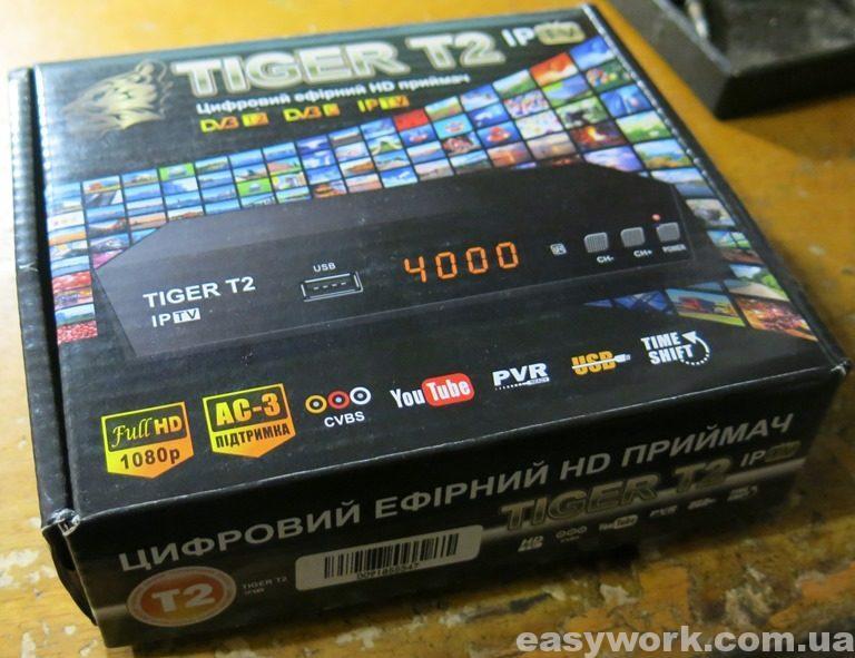 Упаковка Т2 тюнера TIGER T2 IPTV
