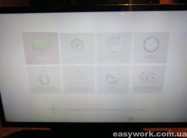 Серое изображение телевизора LG 32LN540V-ZA