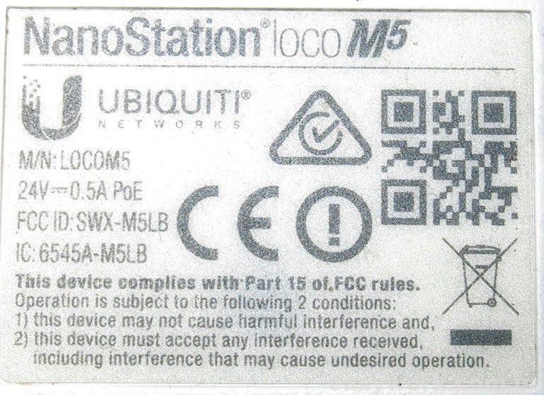 Наклейка точки доступа Ubiquiti Nanostation Loco M5