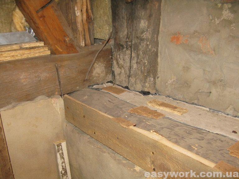 Закрепляю подложки под ровное основание (фото 2)