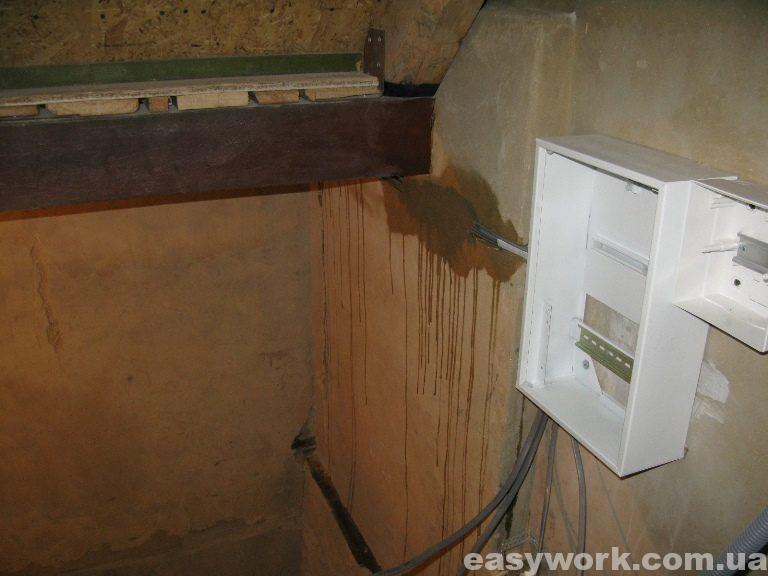 Установка электрощитка и прокладка электропроводки