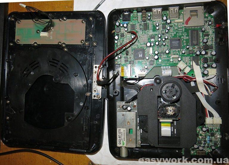 Внутреннее устройство DVD проигрывателя HYUNDAI