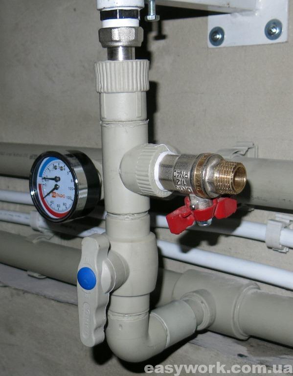 Использованный участок в системе отопления