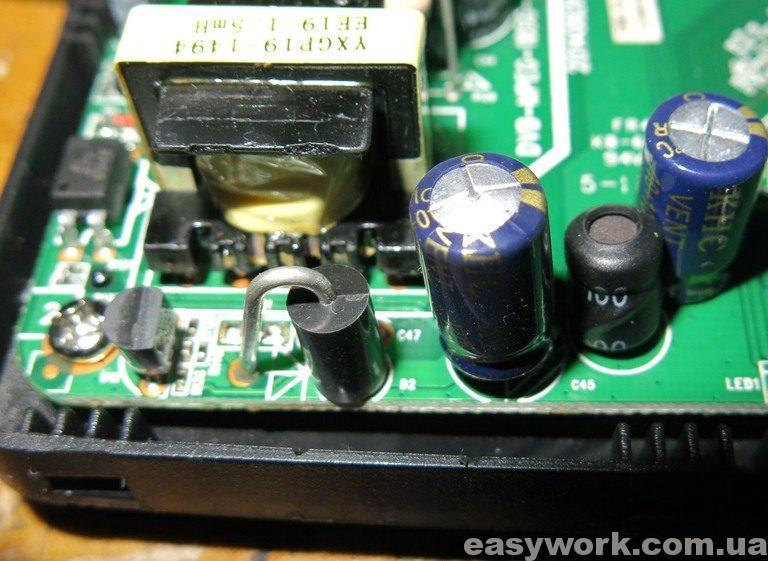Вздутый конденсатор C45