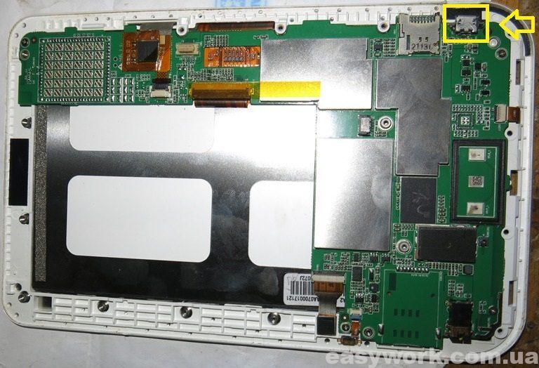 Внутреннее устройство электронной книги PocketBook A7