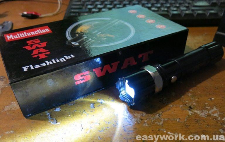 Отремонтированный фонарь SWAT 8008 38000W