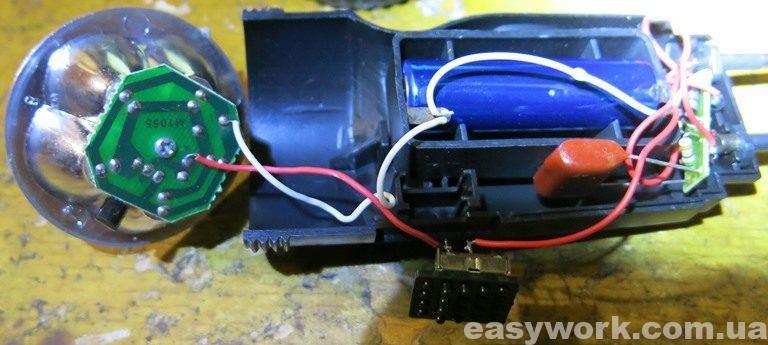 Внутреннее устройство фонаря TDM Electric Компакт 4