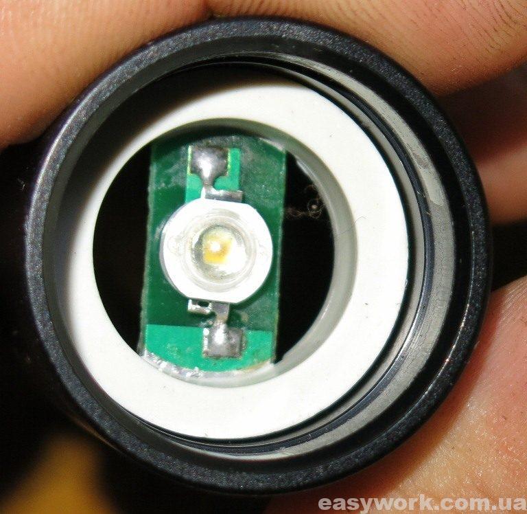 Неисправный светодиод фонаря WD190A - 50000W