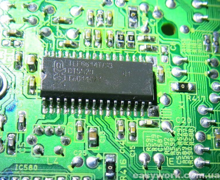 Микросхема тюнера TEF6614T