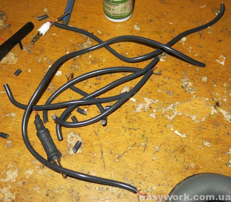 Порезанный родной кабель