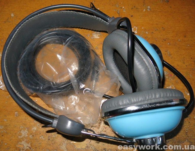 Отремонтированные наушники Kanen KM-740 Blue