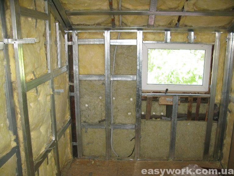 Утепление стен и потолка на втором этаже (фото 1)