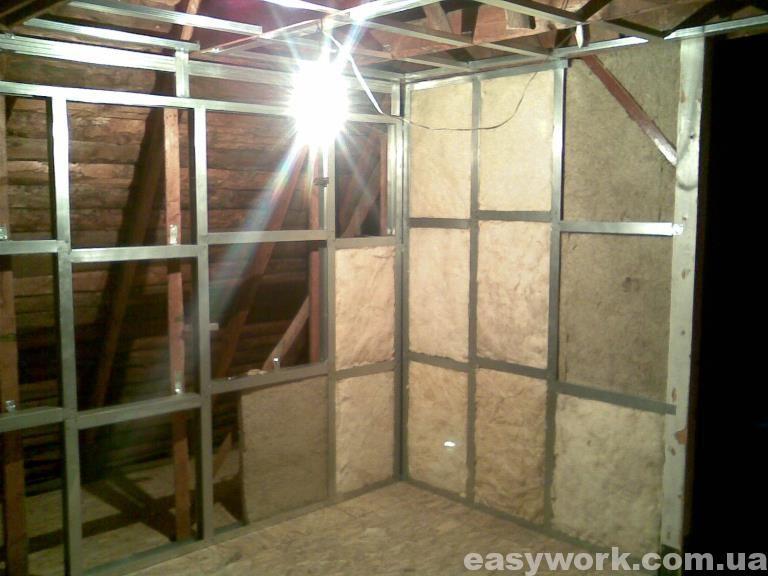 Утепление стен и потолка на втором этаже (фото 7)