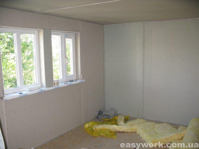 Спальня отделанная гипсокартоном (фото 1)