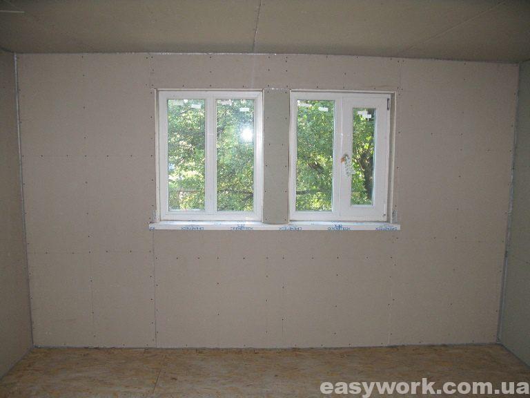 Спальня отделанная гипсокартоном (фото 2)