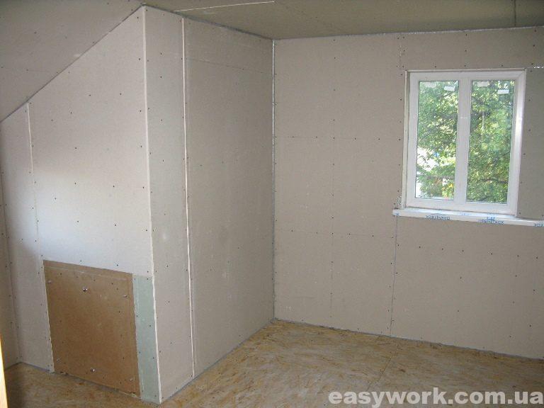 Спальня отделанная гипсокартоном (фото 3)