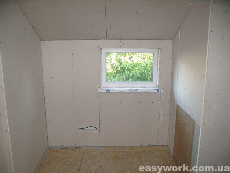 Спальня отделанная гипсокартоном (фото 4)