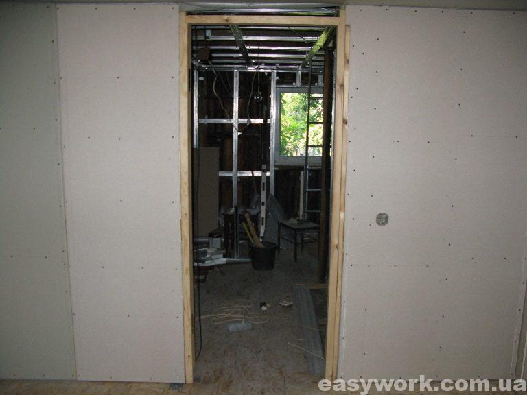 Спальня отделанная гипсокартоном (фото 6)