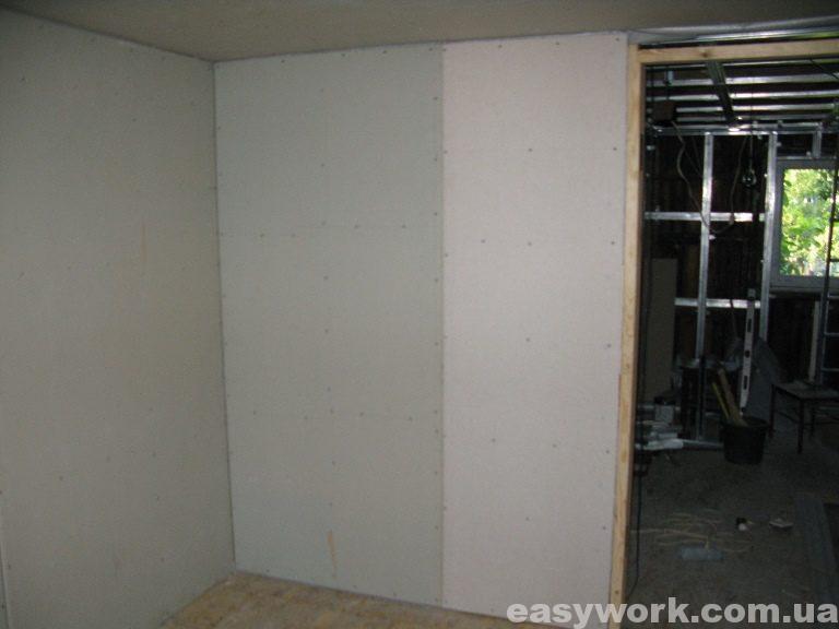 Спальня отделанная гипсокартоном (фото 7)