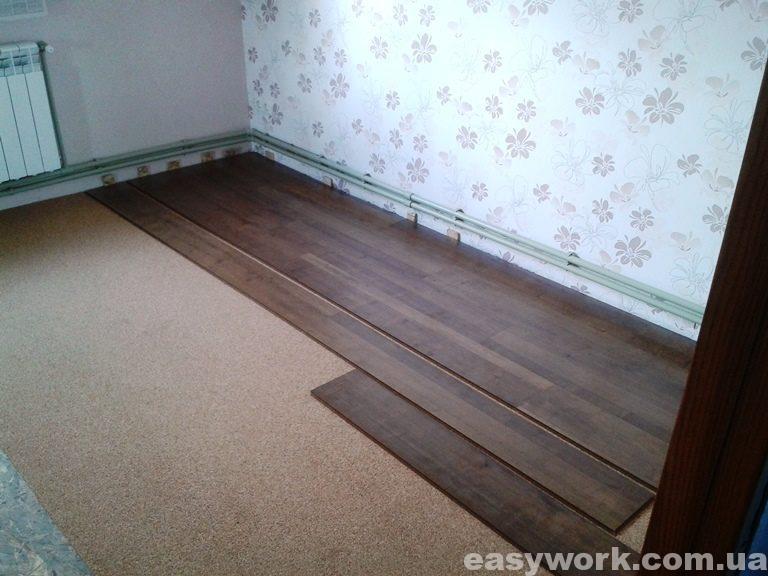 Укладка ламината в спальне (фото 1)