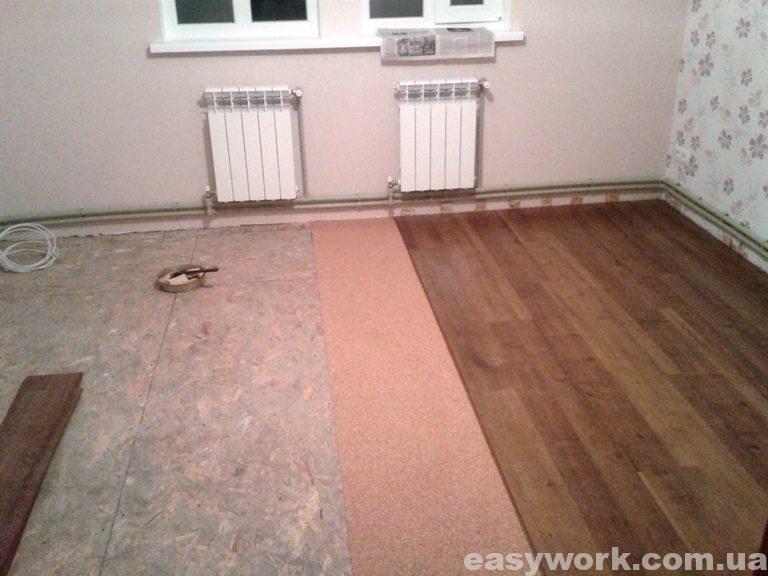 Укладка ламината в спальне (фото 2)