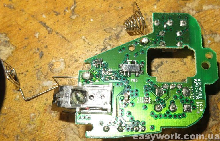Плата мышки Logitech M171 (фото 1)
