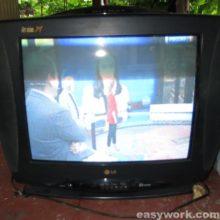 Ремонт телевизора LG CF-21D70X (выключается через 10 минут)