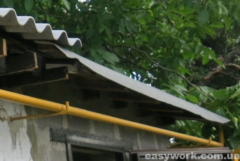 Выпуск рубероида с крыши