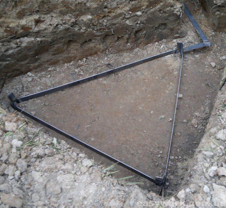 Заземление в виде треугольника