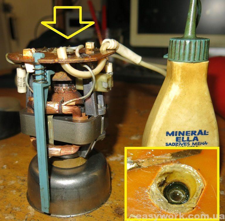 Смазка подшипника машинным маслом