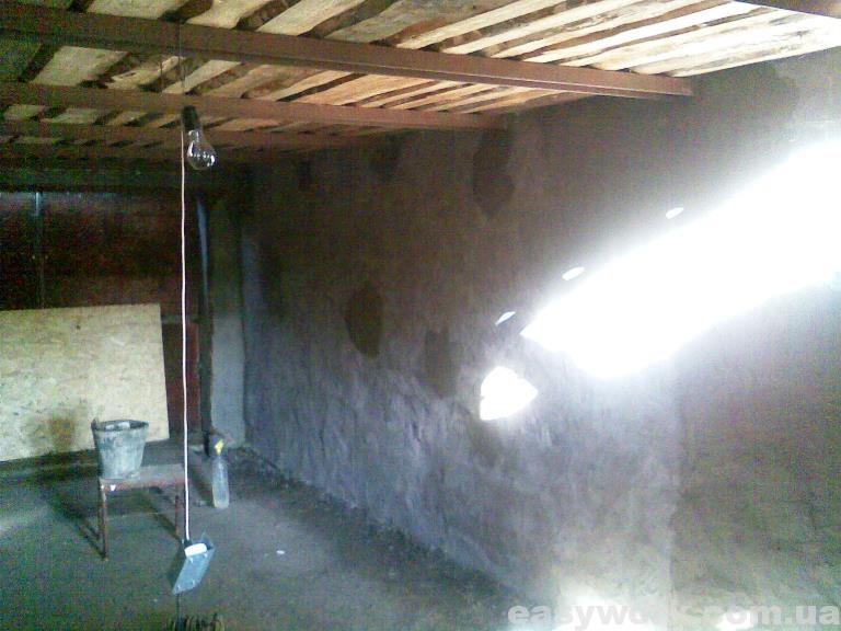 Оштукатуривание стен гаража (фото 2)