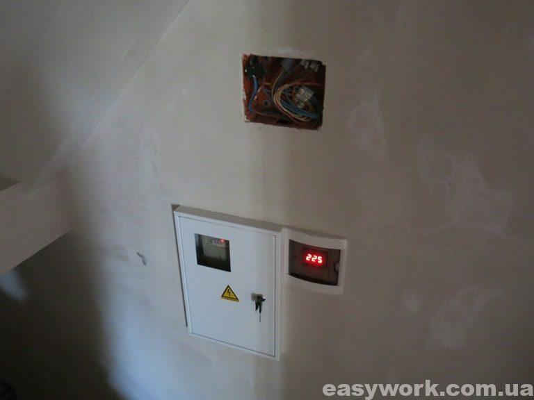 Электрощит под лестницей (фото 1)