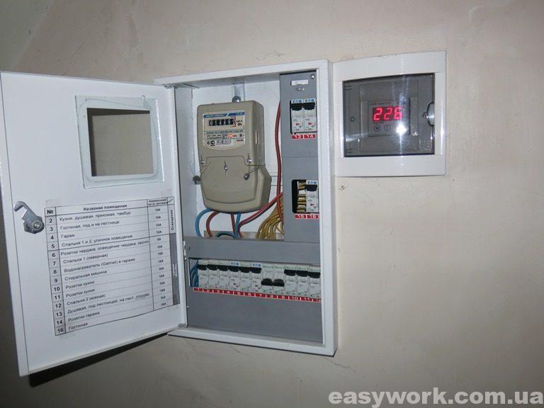 Электрощит под лестницей (фото 2)