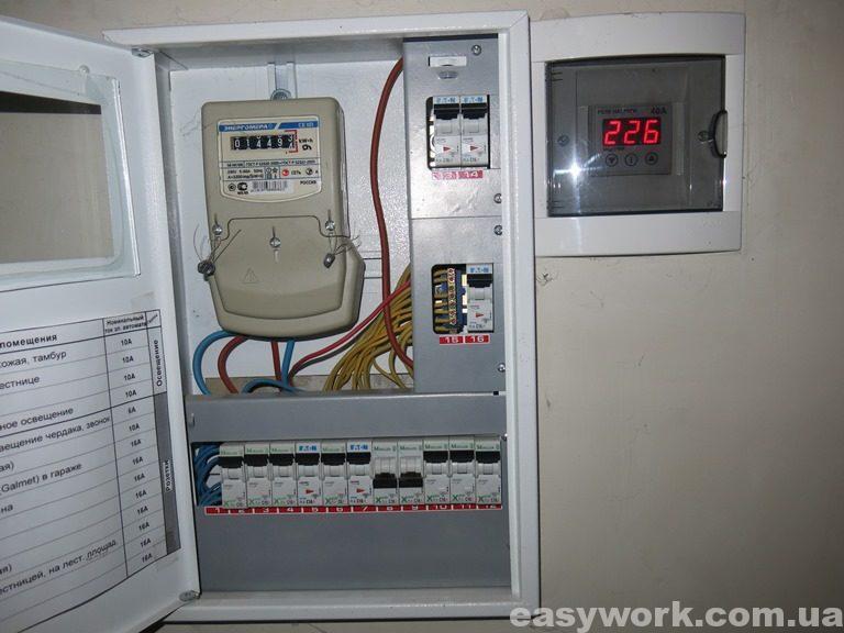 Электрощит под лестницей (фото 3)