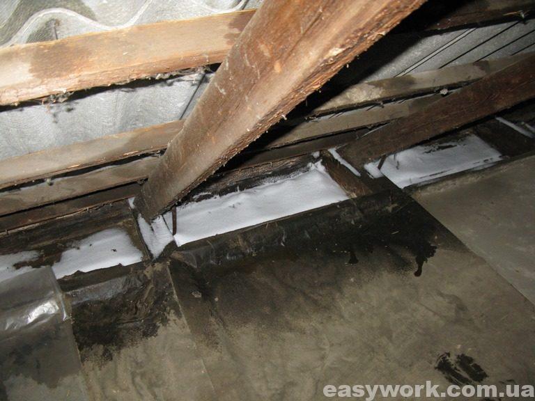 Снег на стропильной системе крыши (фото 2)