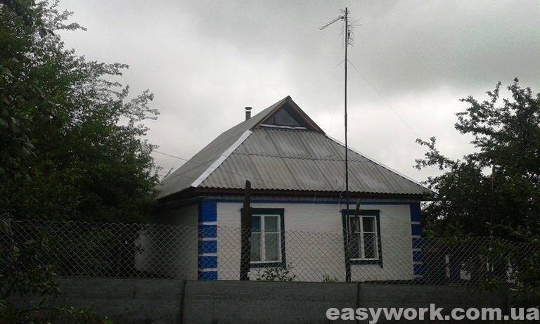 Смонтированная шиферная крыша  (фото 2)