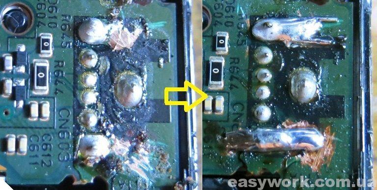 Пропайка USB разъема магнитолы