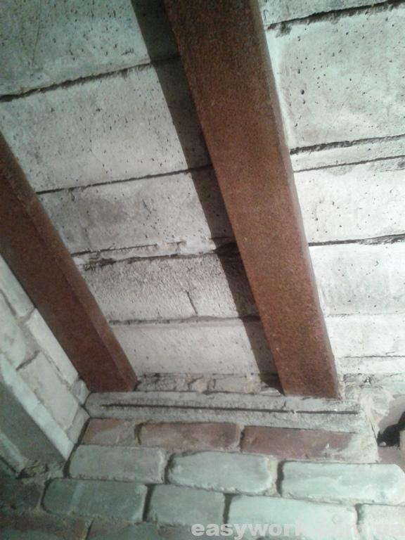 Потолок подвала