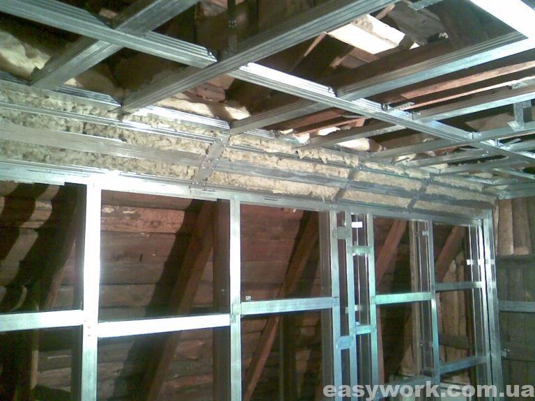 Утепленный угол между стенкой и потолком (фото 2)