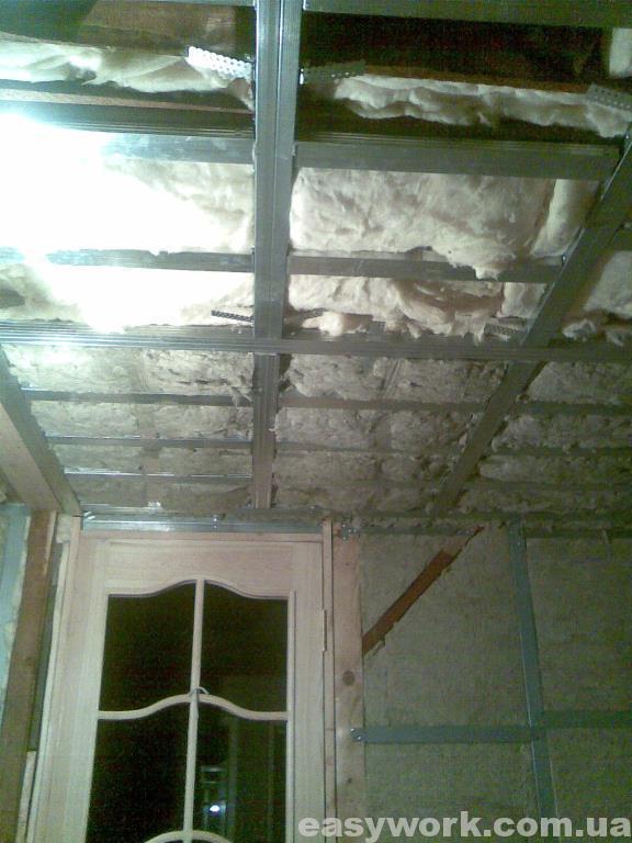 Утепление потолка в детской (фото 1)