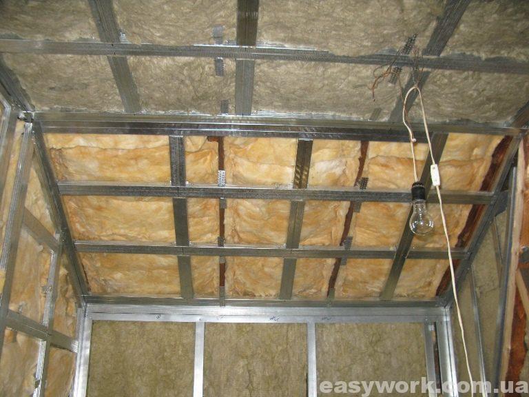 Утепление потолка ниши в детской комнате