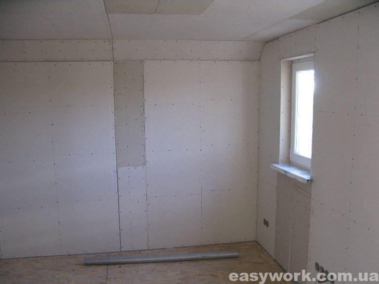 Монтаж гипсокартона в детской комнате (фото 5)