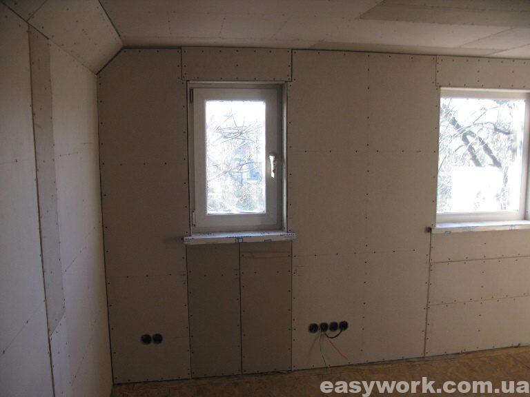 Монтаж гипсокартона в детской комнате (фото 6)