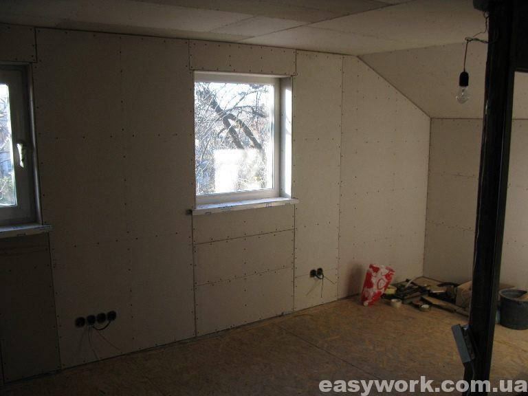 Монтаж гипсокартона в детской комнате (фото 7)