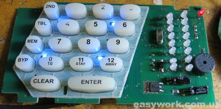 Отремонтированная кодовая клавиатура 187 rev.1