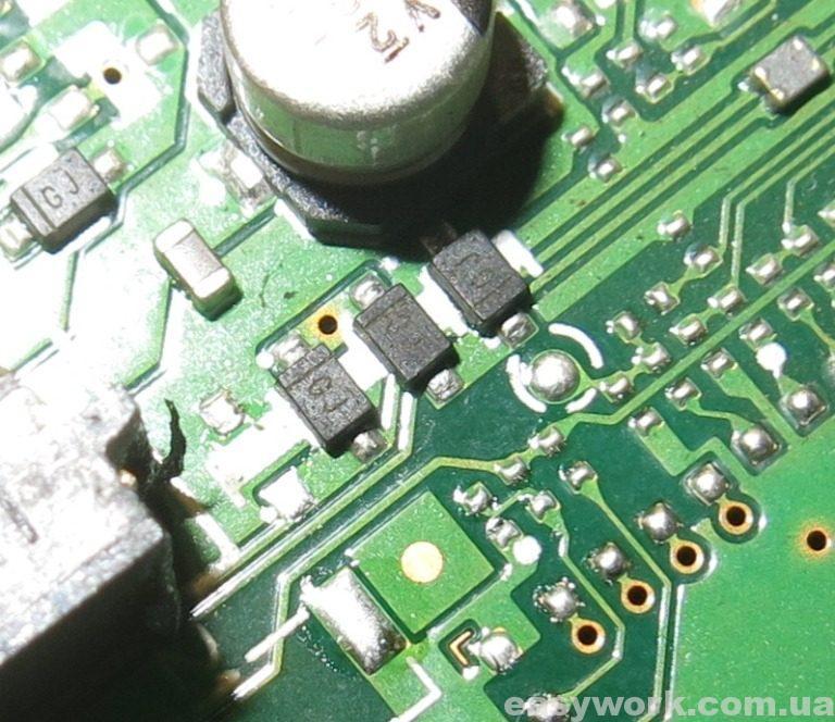 Подтягивающие диоды USB шины