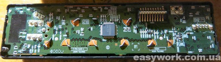 Разобранная лицевая панель магнитолы SONY DSX-A202UI