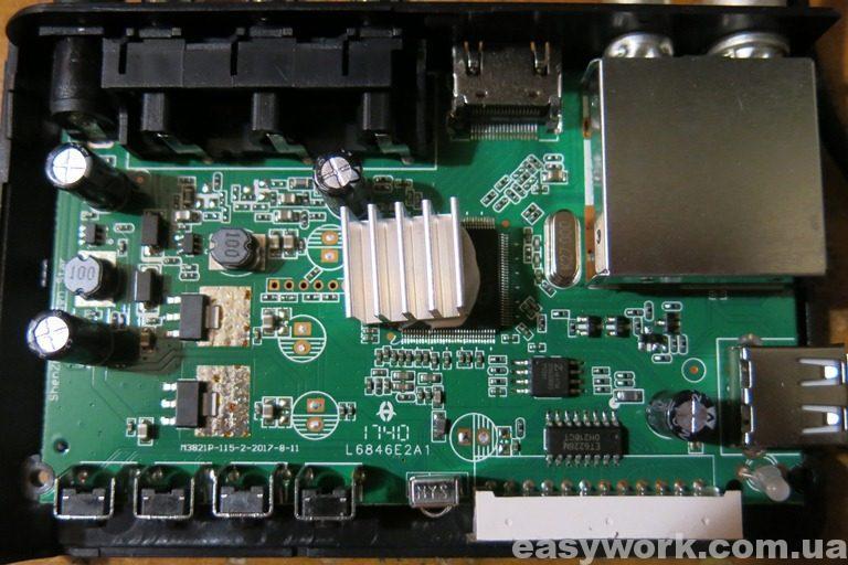 Внутреннее устройство Т2 ресивера SELENGA T71